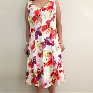 Lauren Ralph Lauren Floral Sleeveless Dress 14